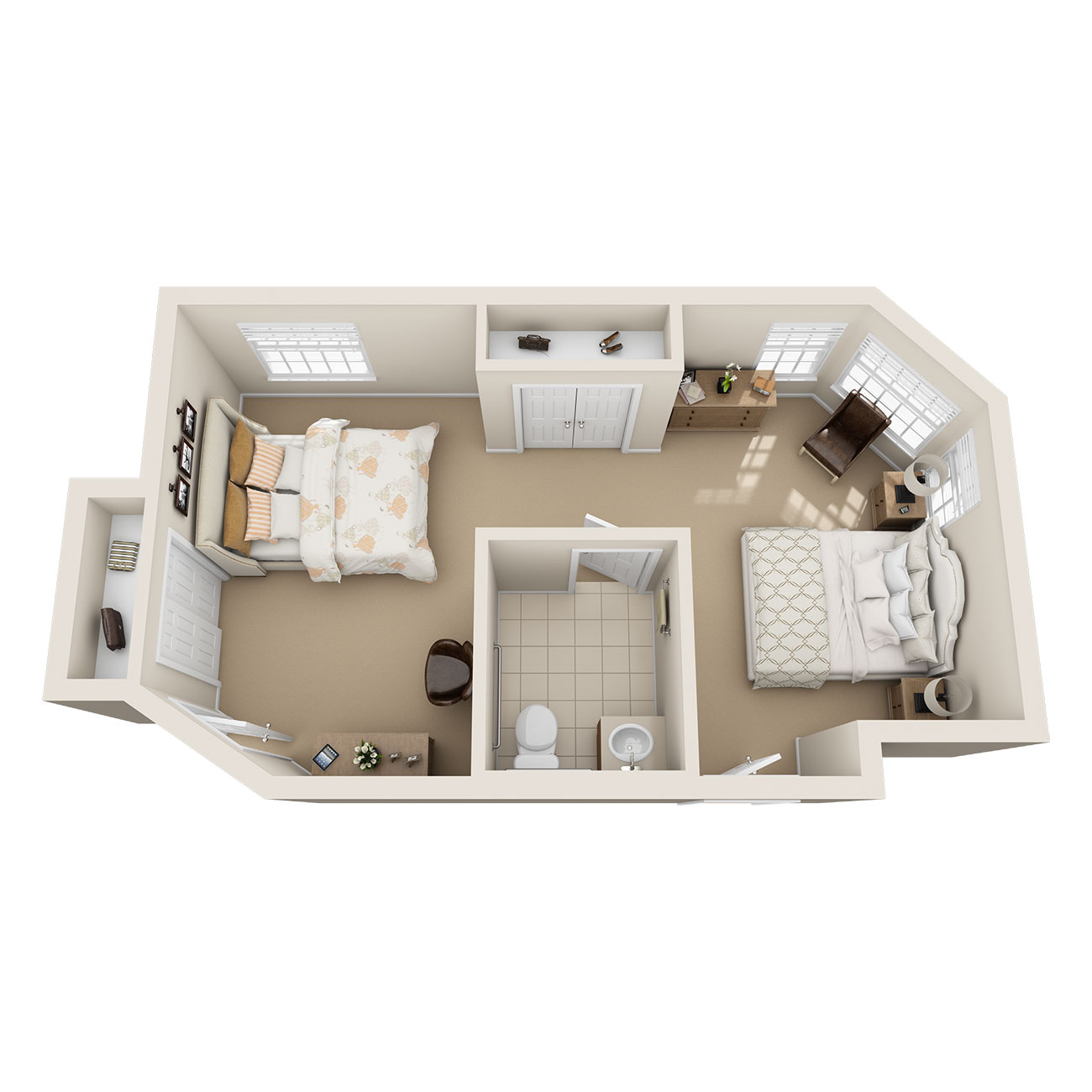 Floor Plan Shared Suite with Private Entry