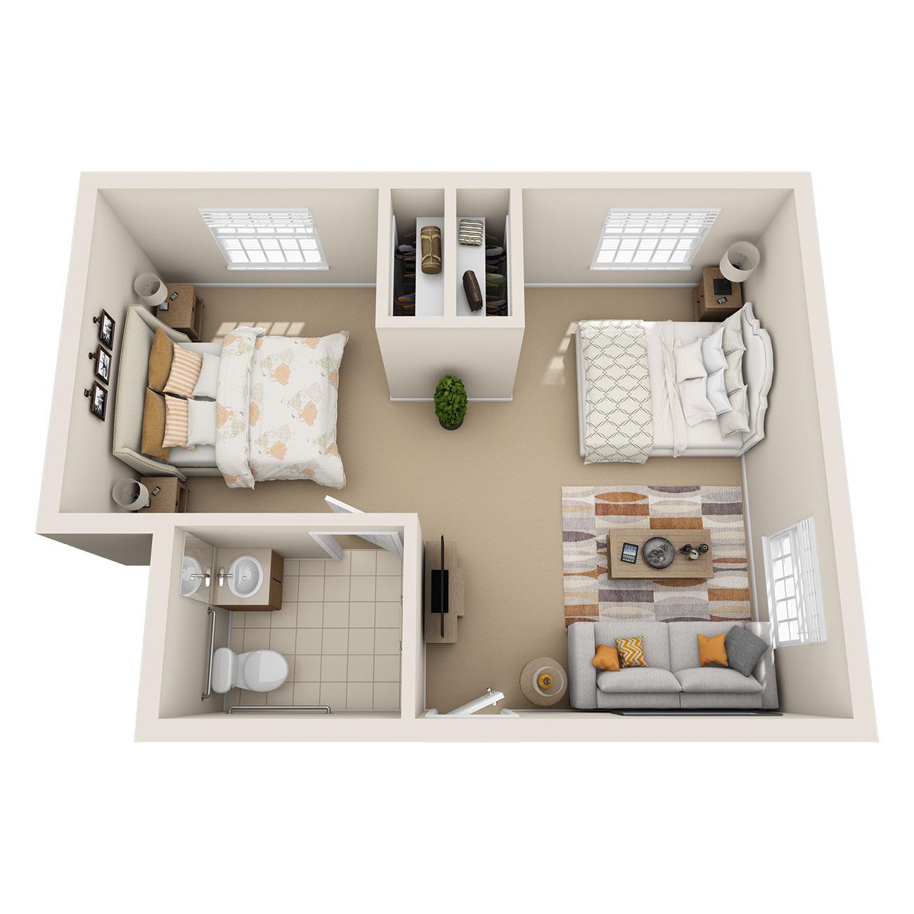 Floor Plan Shared Suite