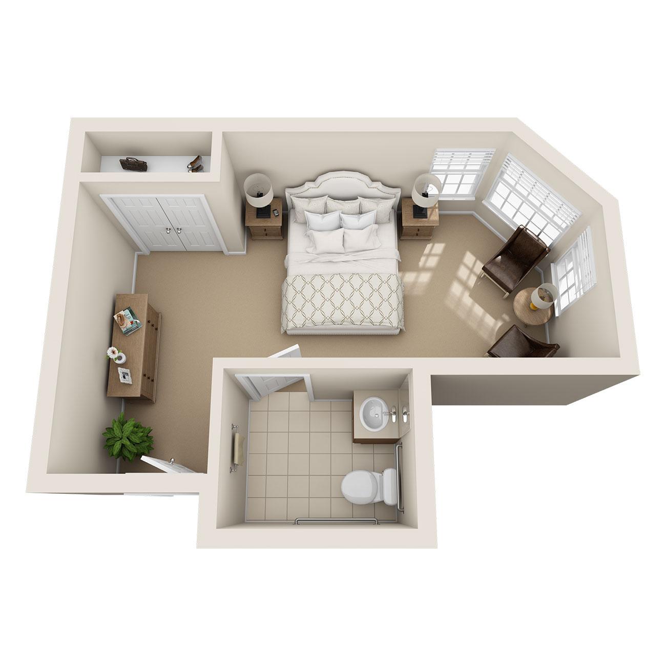 Floor Plan Large Studio