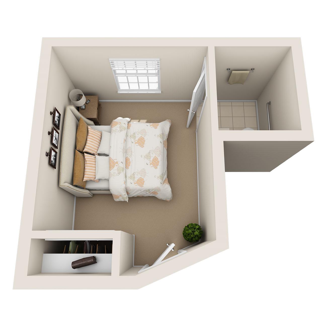 Floor Plan of Memory Care Studio